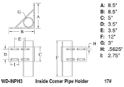 Inside Corner Pipe Holder